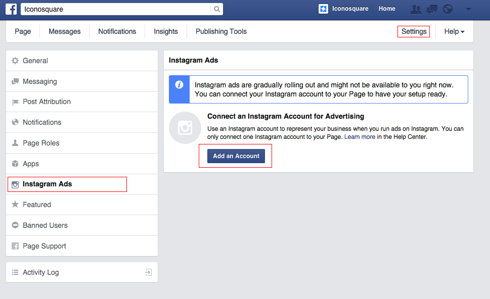 How to add an Instagram account to Facebook Business Page