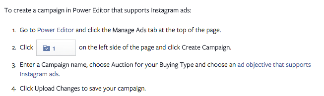 Creating an Instagram Advertising campaign