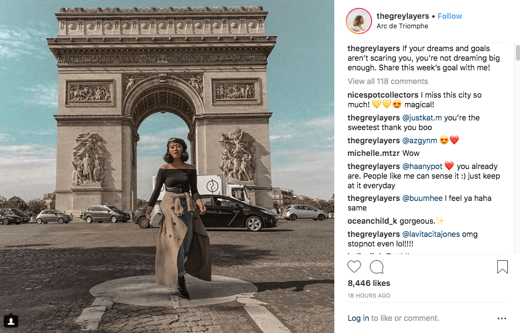 thegreylayers Instagram influencer marketing post
