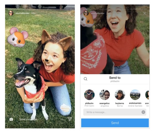 Instagram Update: You Can Now Share Stories Through Direct Messages