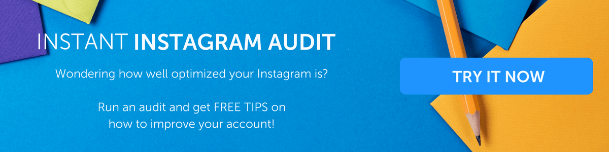 Instant Instagram Audit Tool from Iconosquare