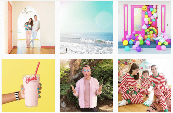 Colorful Instagram theme example from Jeff Mindell