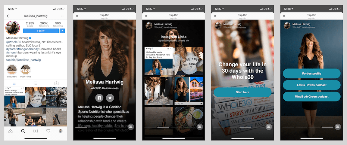 Tap Bio is a great Instagram tool for generating more traffic via Instagram
