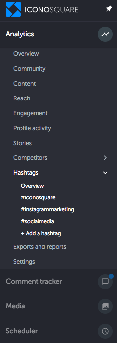 How to Use Hashtags on Instagram to Grow Your Account: use Iconosquare hashtag tracking