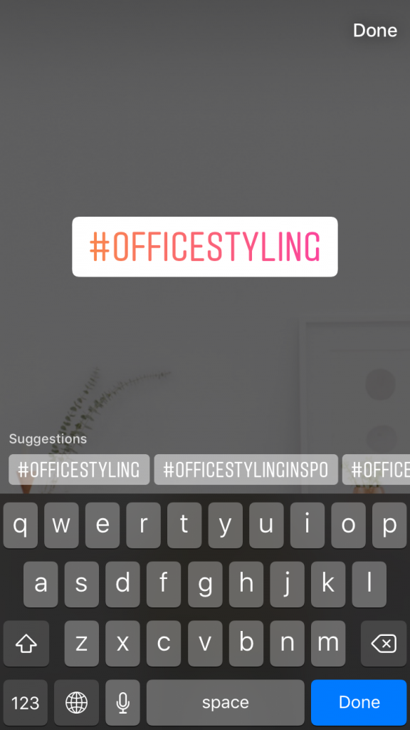 How to Use Hashtags on Instagram to Grow Your Account: adding hashtags on Instagram Stories
