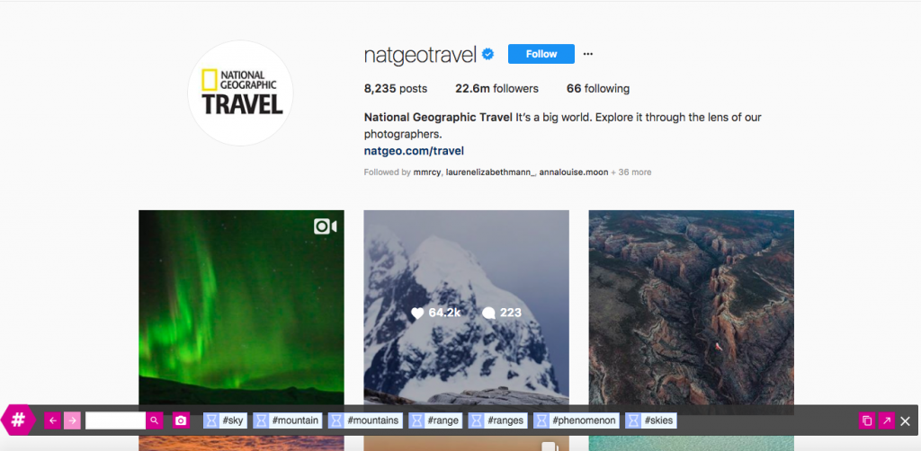 Nat Geo hashtags suggestions with Rite Tag