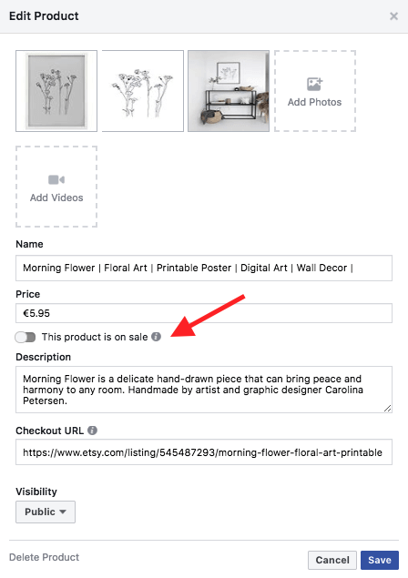 Add and edit products in your Facebook shop to enable Shoppable Tags on Instagram