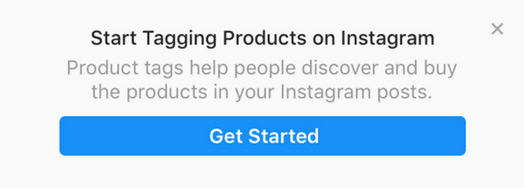 Shoppable Instagram tags enabled