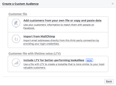 Creating custom audiences for Instagram ads with Mailchimp email import