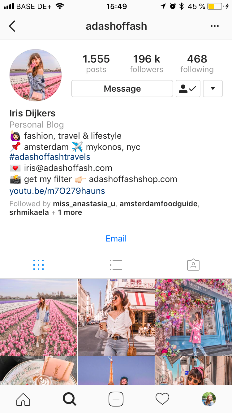 Make your Instagram bio easily scannable