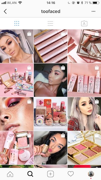 How to create quality Instagram content toofaced instagram example