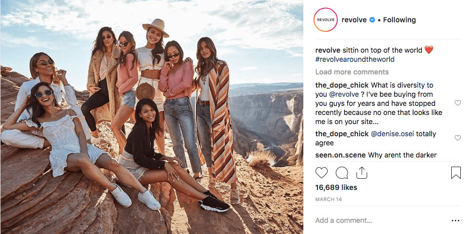 Revolve Instagram Influencers Campaign min