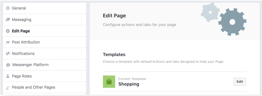 Shopping Template Facebook