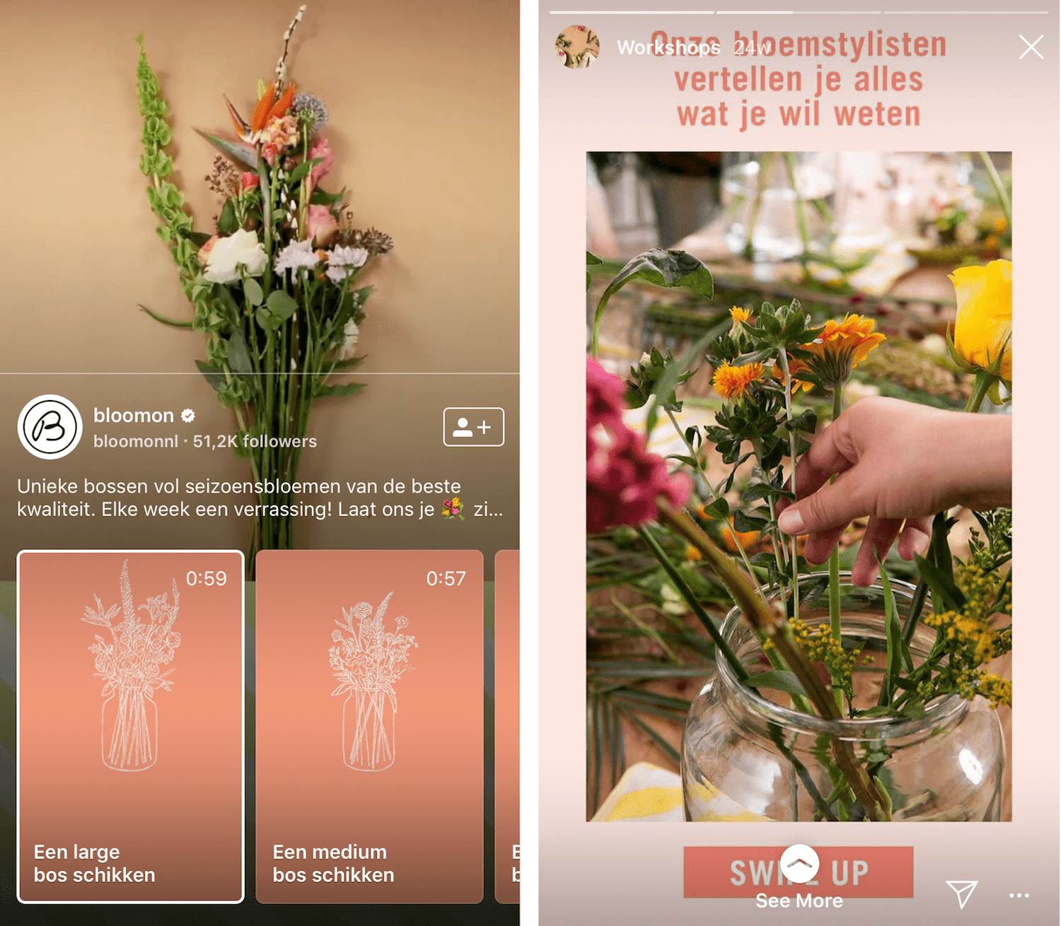 Integrate IGTV and Stories in your Instagram marketing strategy, like Bloomon!