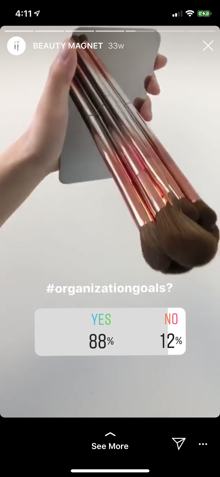 Instagram poll ideas from sephora