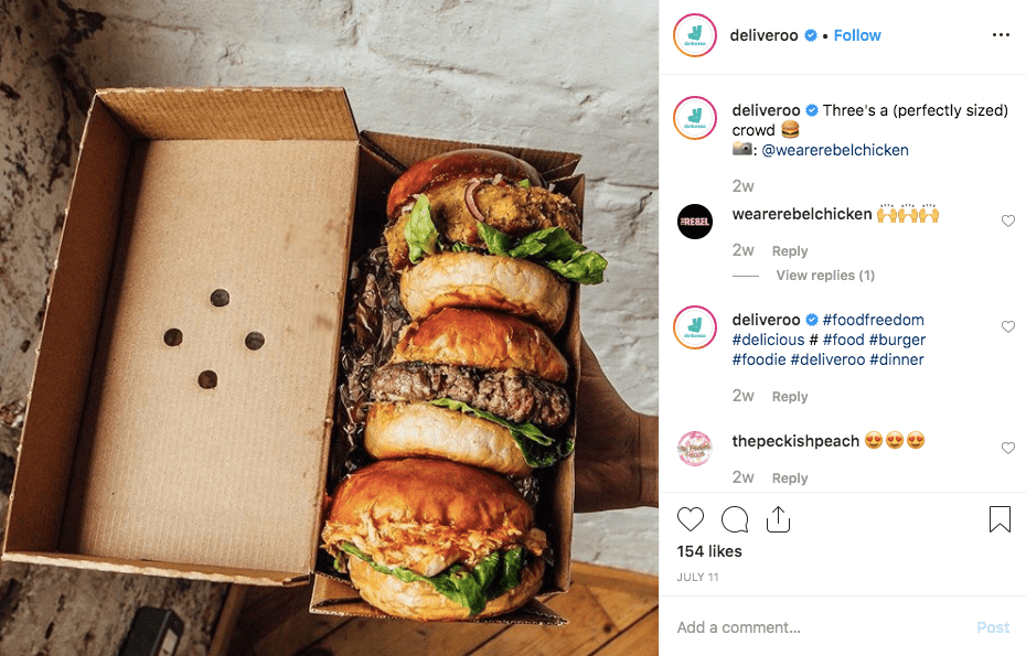 Deliveroo brand voice