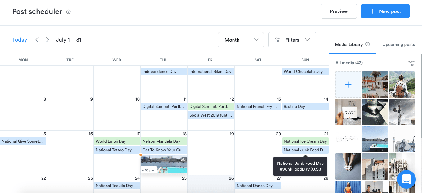 Plan your Instagram content calendar with Iconosquare