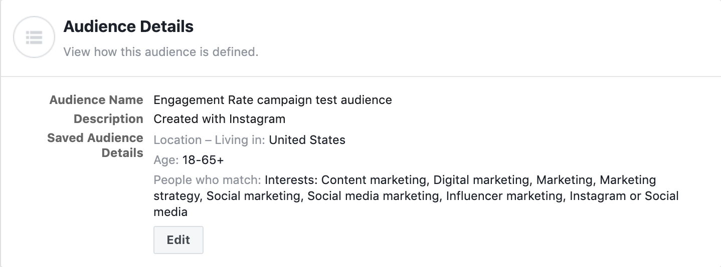 Instagram target audience for Instagram ads