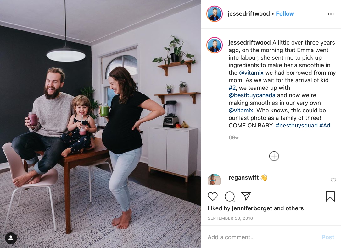 Instagram sponsorships with influencers