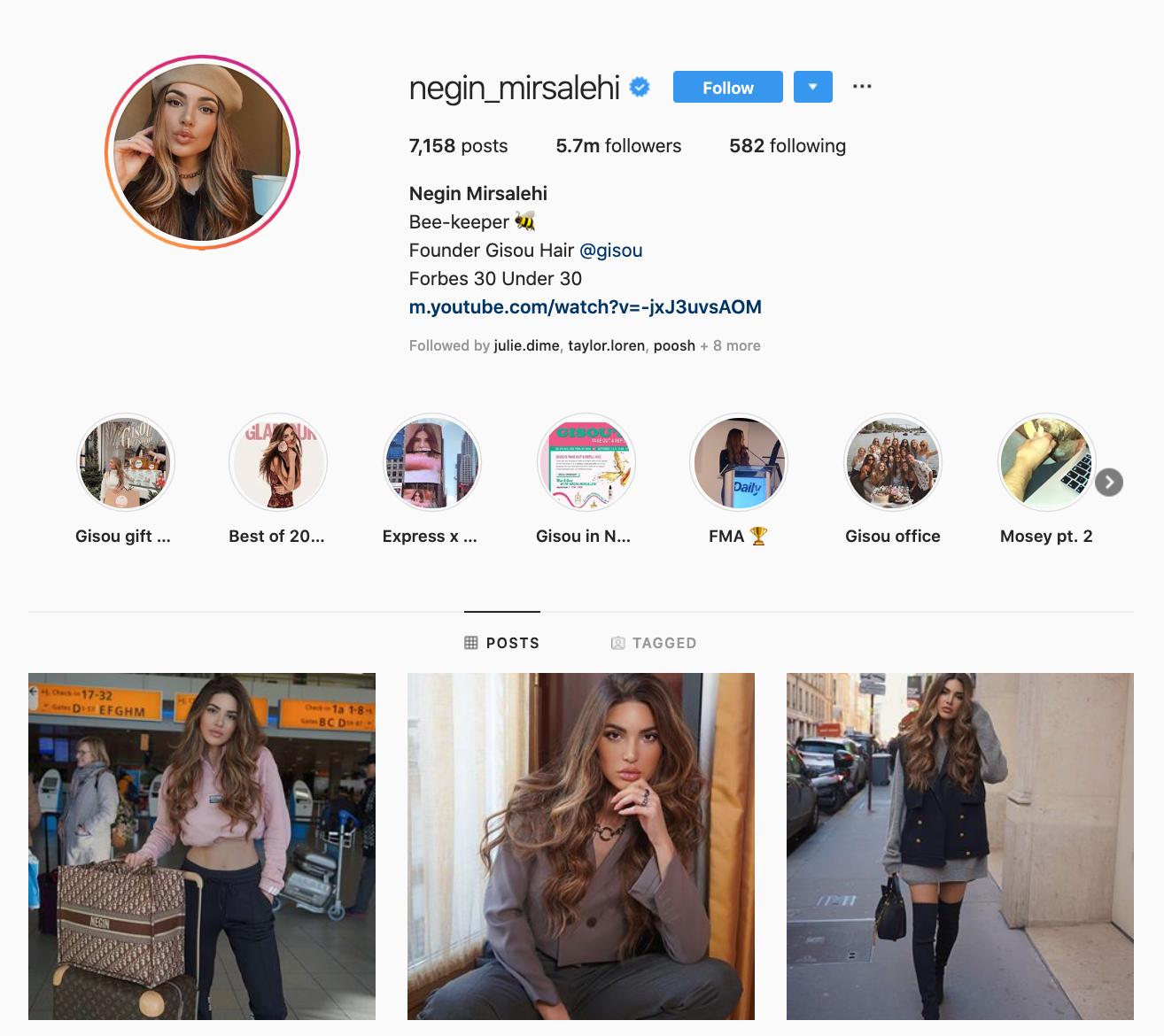 Mega influencers on Instagram