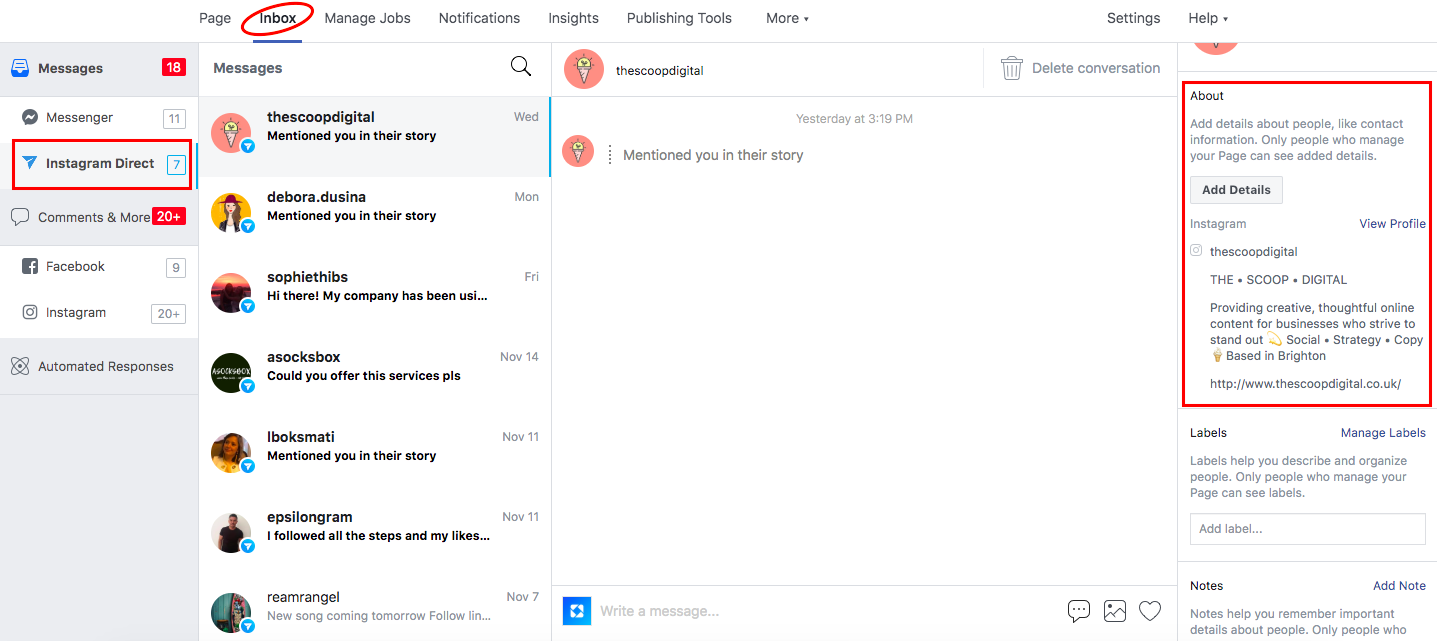 Reply to your Instagram DMs on desktop through Facebook