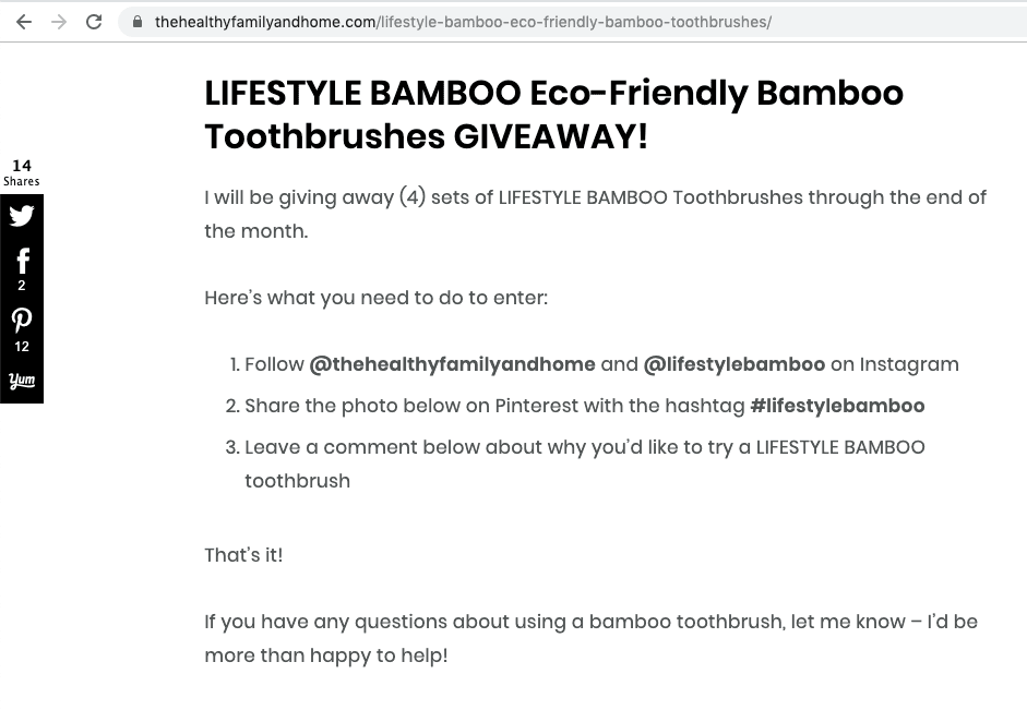 Promote your giveaway through email